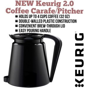 NEW Keurig 2.0 Coffee Carafe / Pitcher